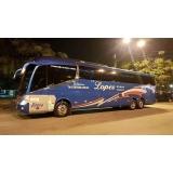 locação de ônibus para viagem valor Louveira