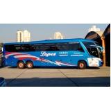 preço da locação de ônibus turismo Jandira